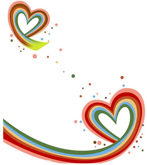 温馨的心心相印,心形,爱情