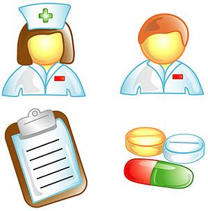 医生、护士图标