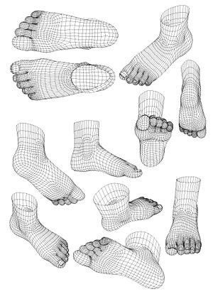 3d模型风格人脚