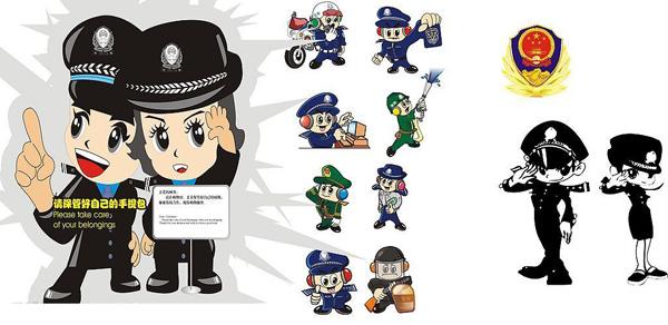 卡通警察形象