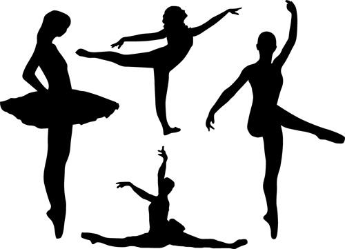 跳舞女孩剪影
