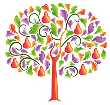 心形组成的树