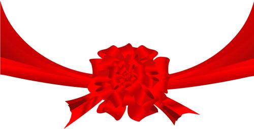 矢量红绸花