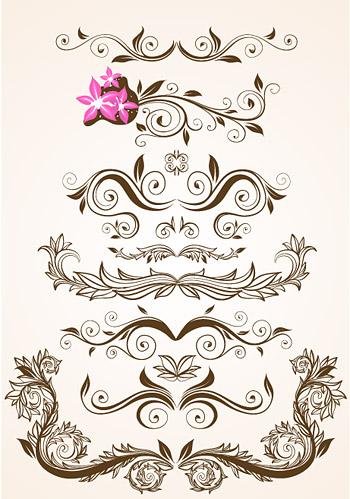 古风边框花纹手绘