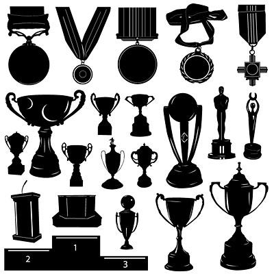 eps格式,矢量素材,奖牌,体育运动,奖杯,剪影,领奖台 下载文件 特别