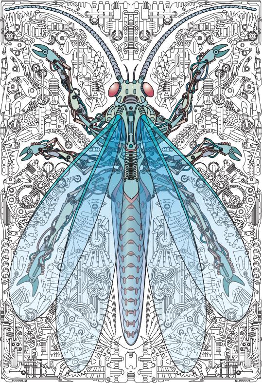 矢量机器蜻蜓