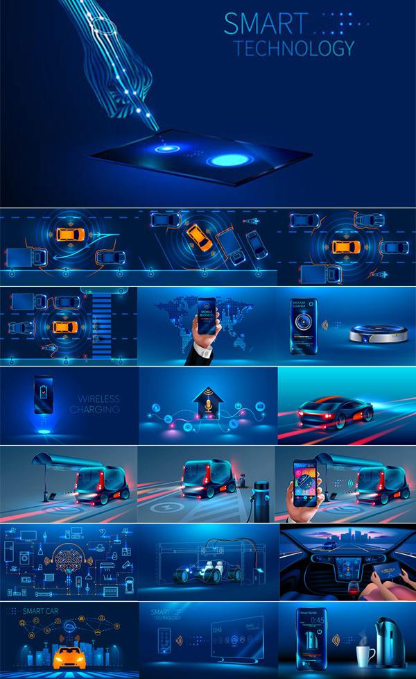 智能科技创意设计矢量素材,矢量素材,矢量图,设计素材,创意设计,智能