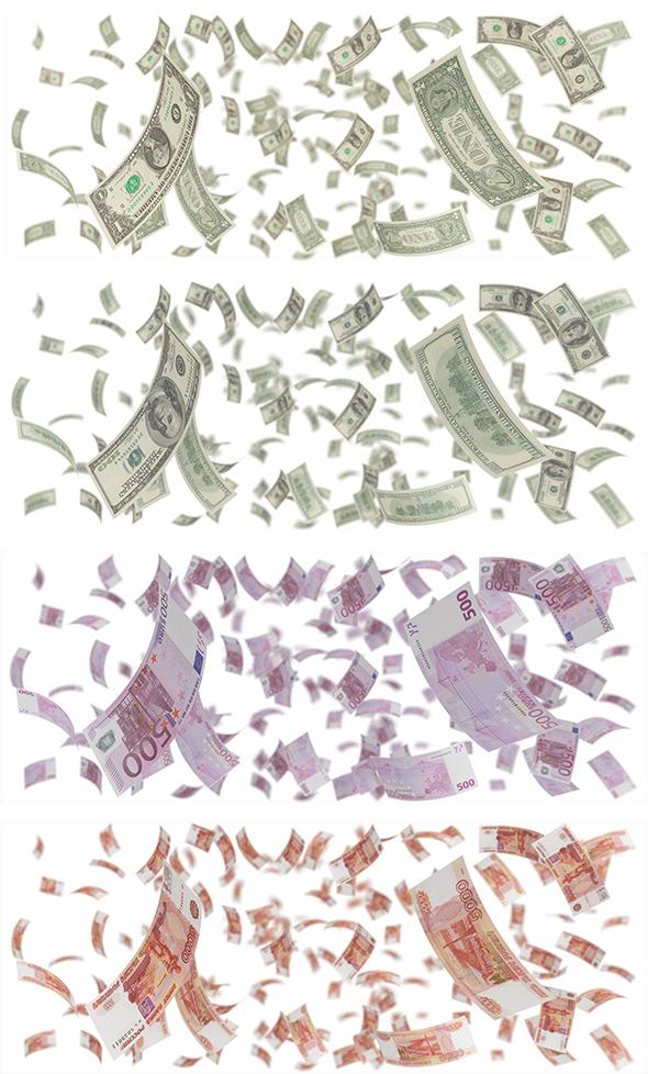 空中飞舞的钞票