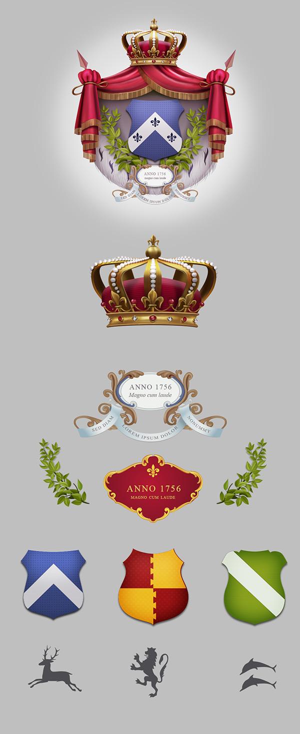 精美皇家徽章