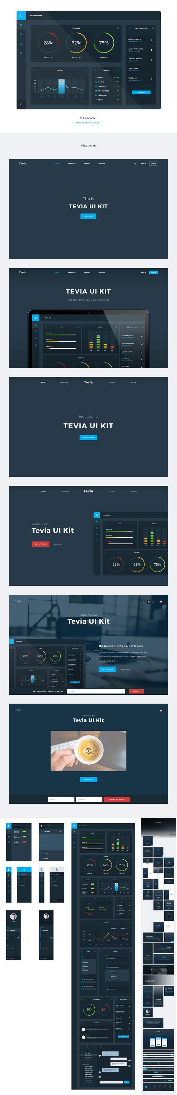 蓝色UI工具包
