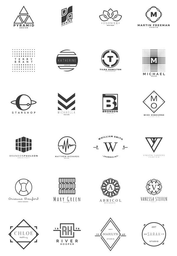 时尚几何图形标志