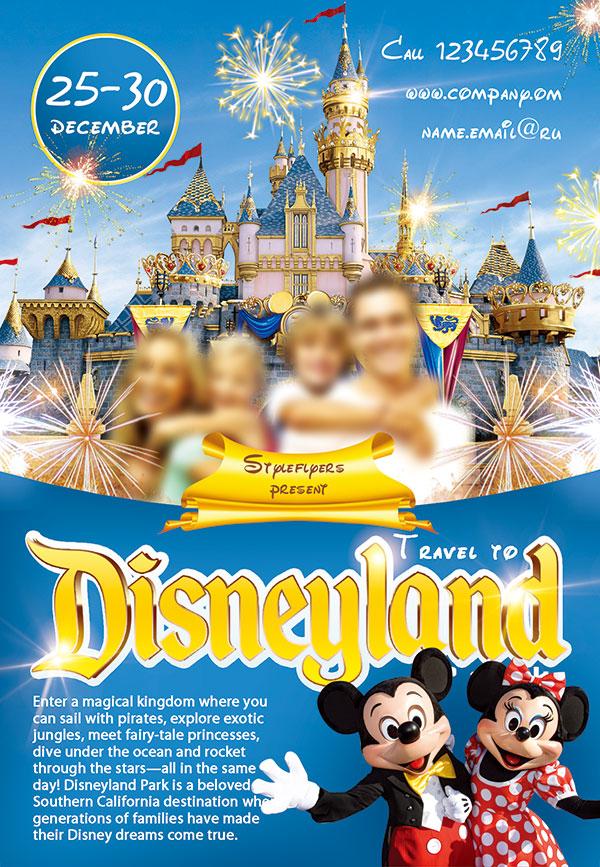 迪士尼旅游海报