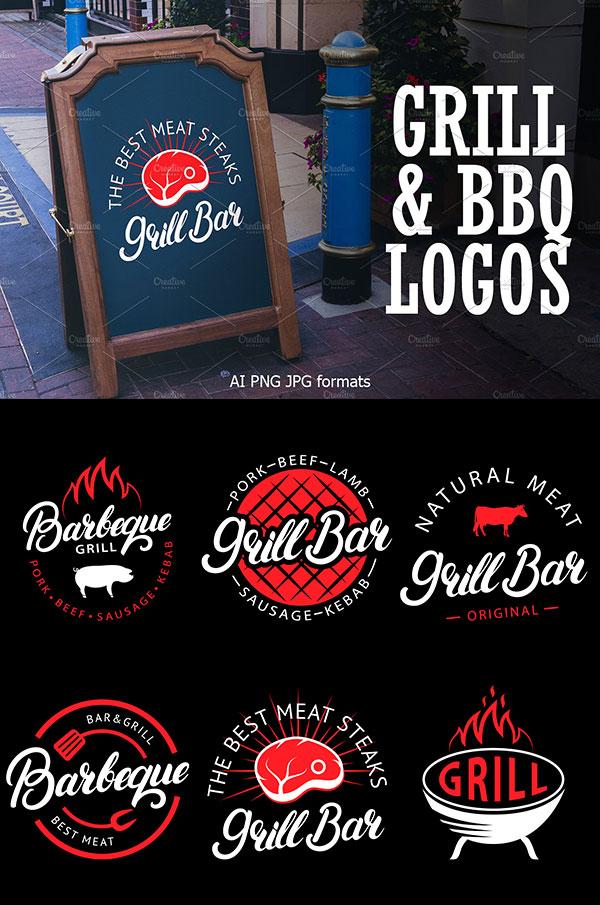 烧烤酒吧Logo