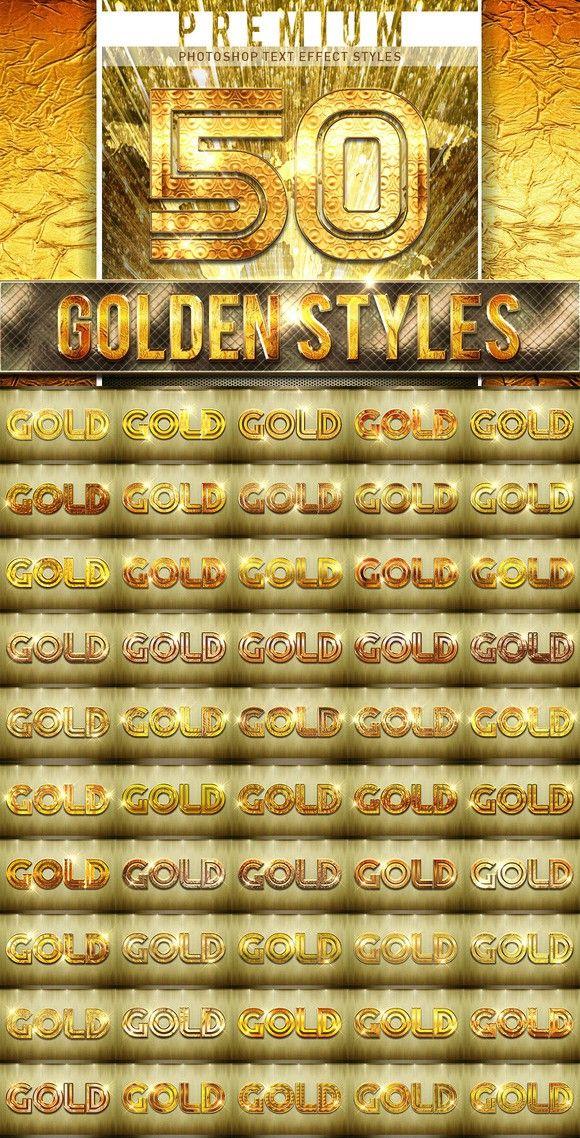 黄金立体字样式