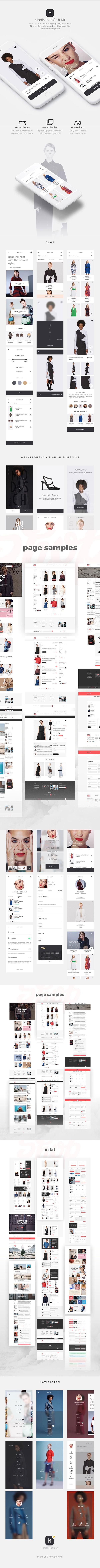 服饰购物应用UI