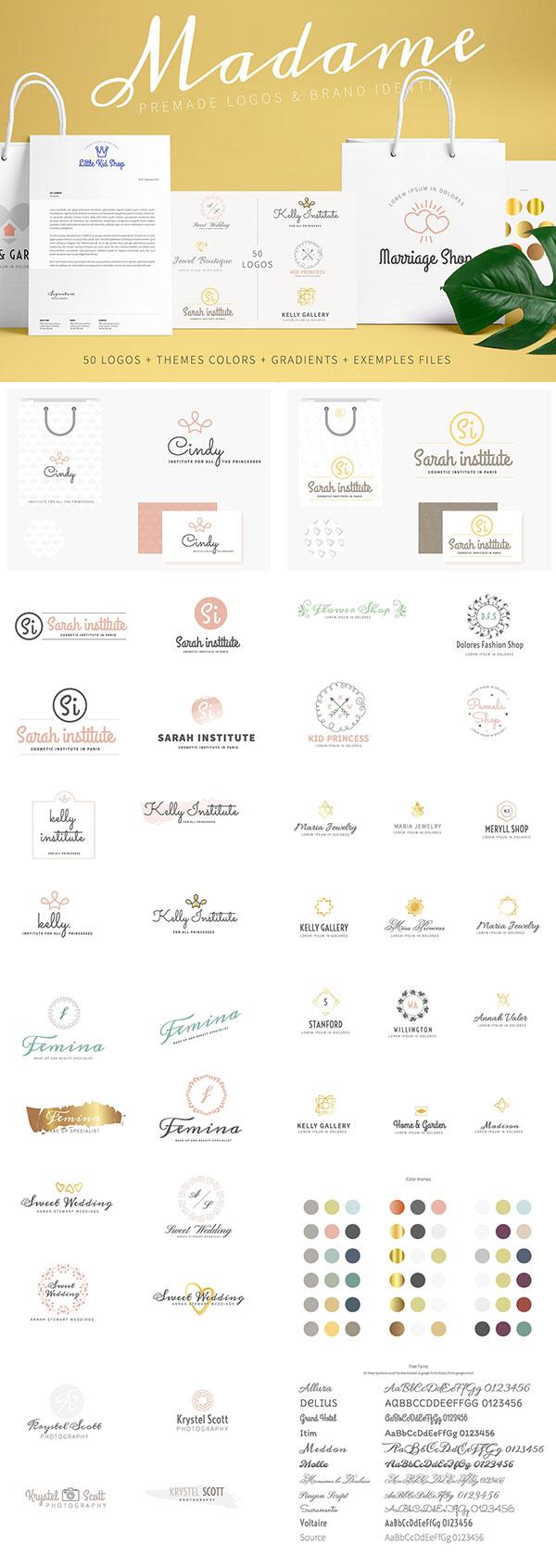 30枚预制Logo模板