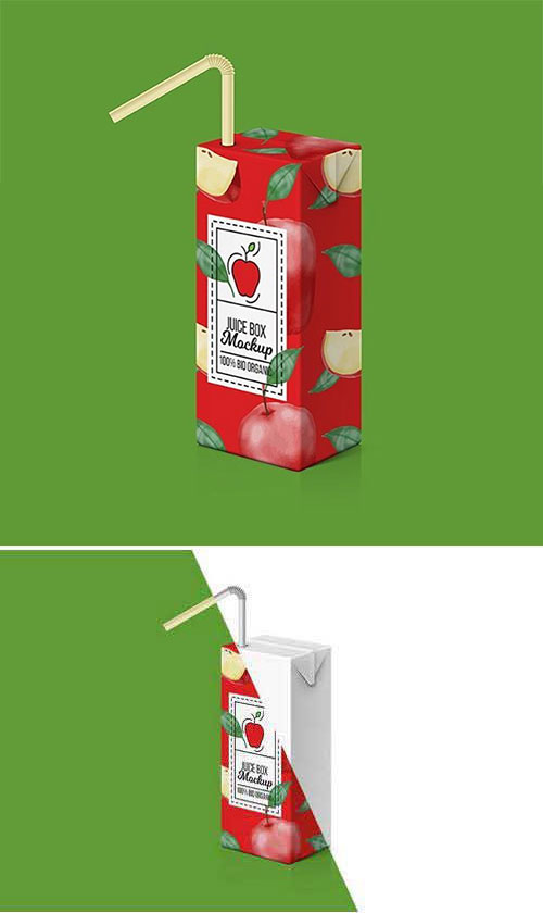 果汁纸包装盒样机