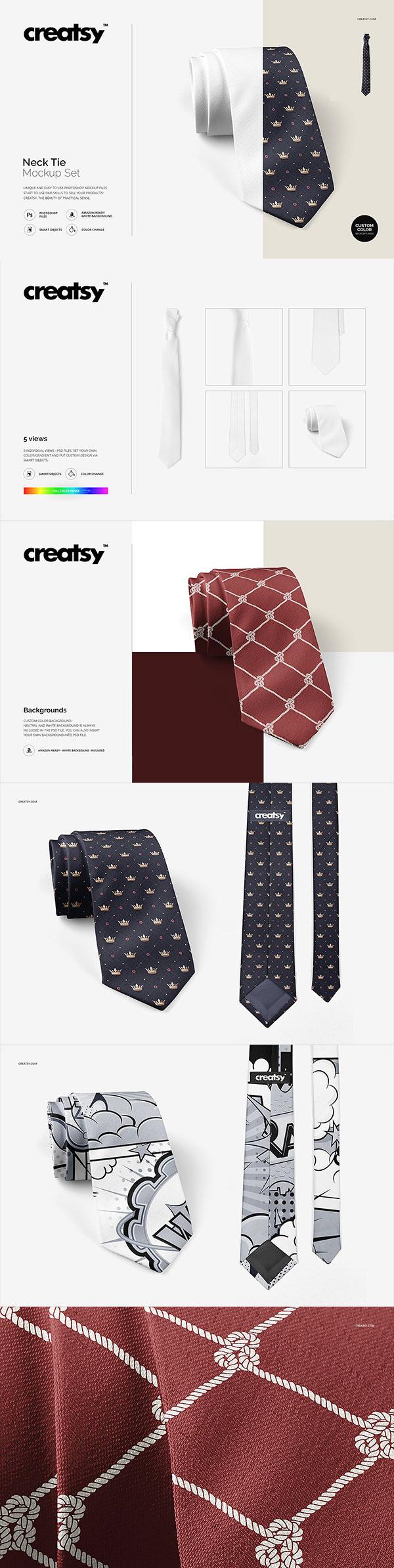 多角度领带样机
