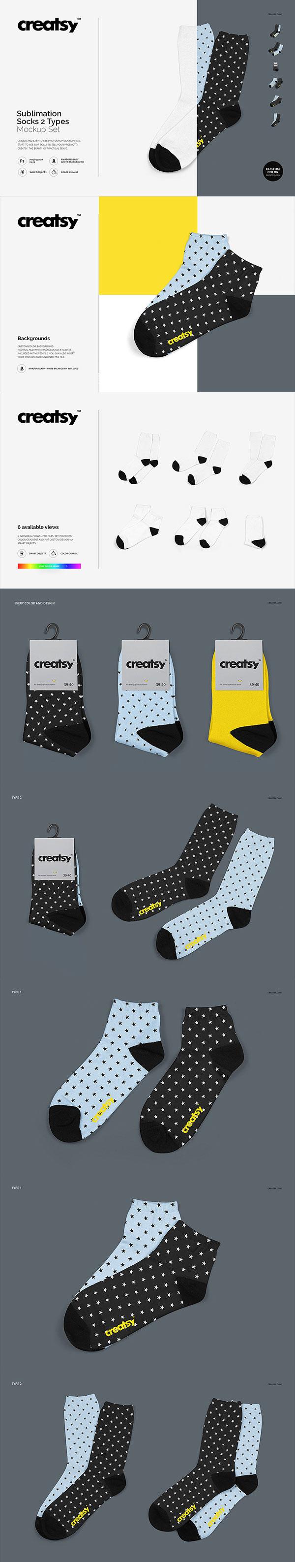 多角度袜子样机