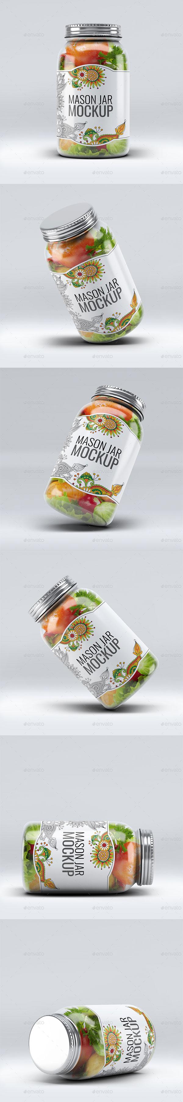 果酱罐头包装样机