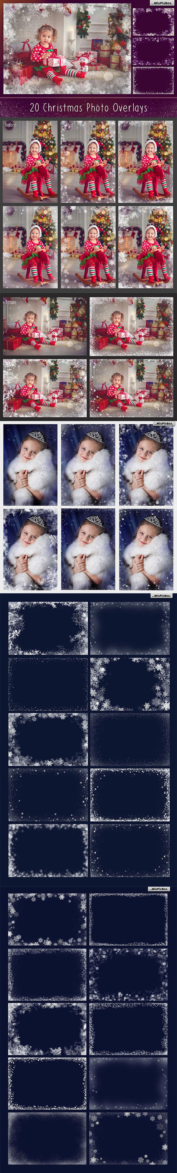 雪花图案背景叠层