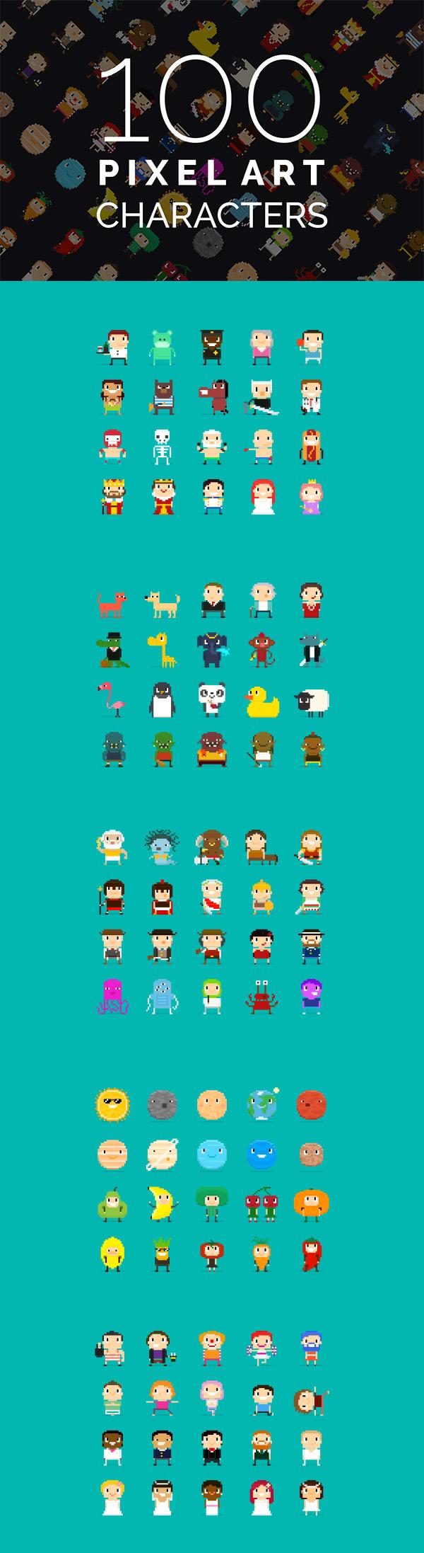 5 点 关键词: 100个卡通像素图标psd分层素材,可爱像素图标,像素人物