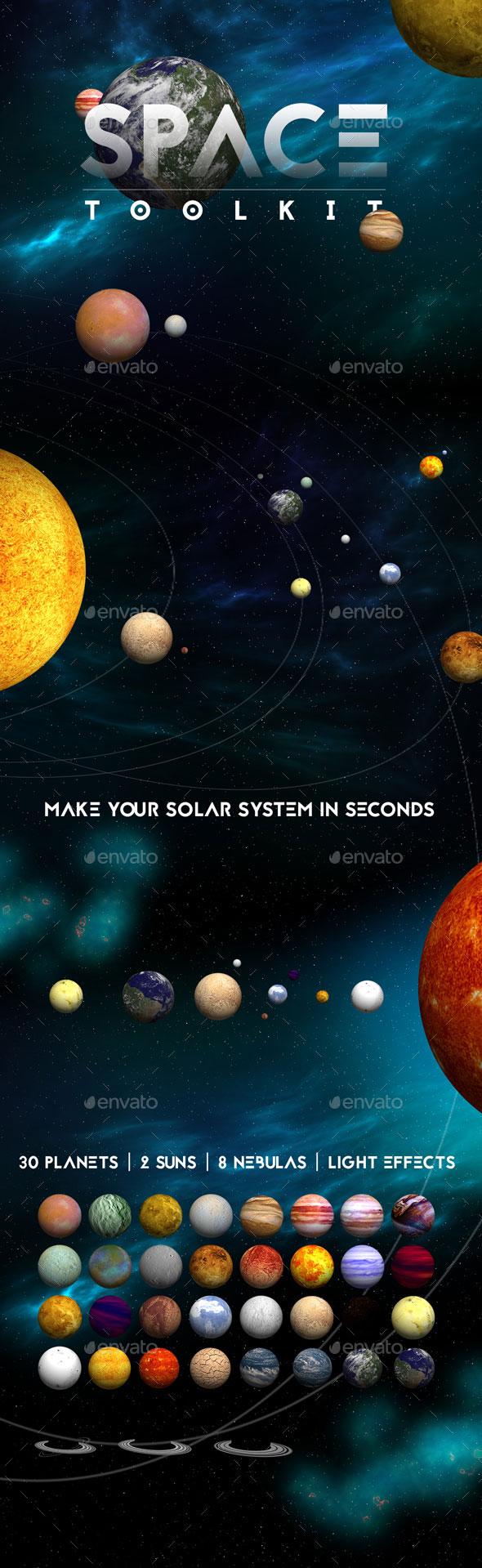 太阳系各种行星