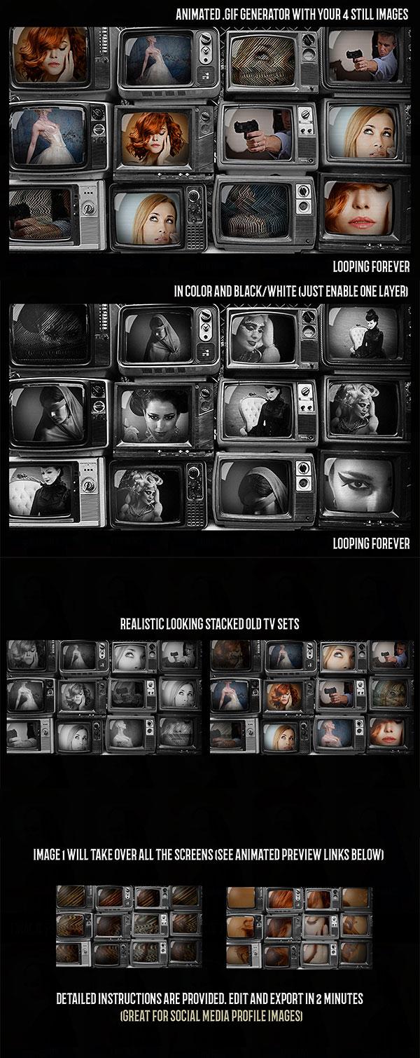 老电视GIF动画