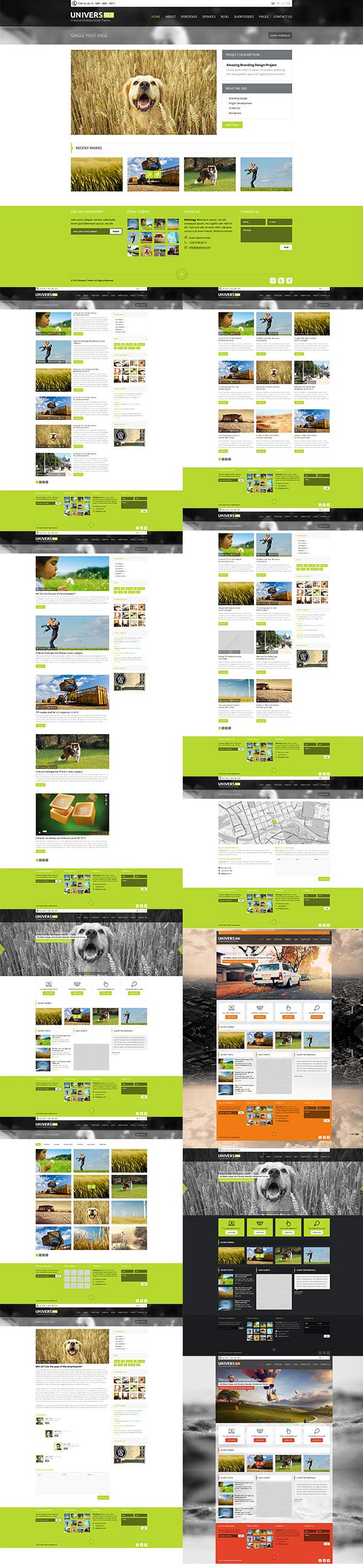 行业通用网站模板