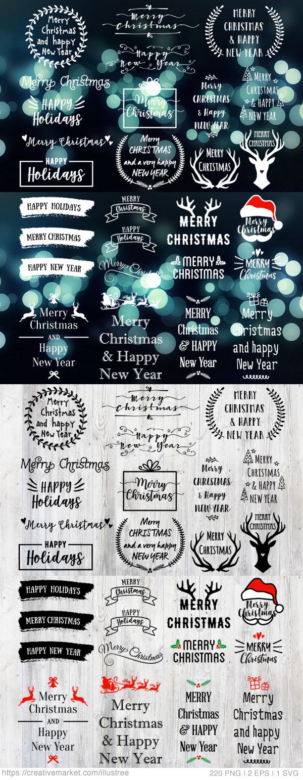 圣诞节logo矢量