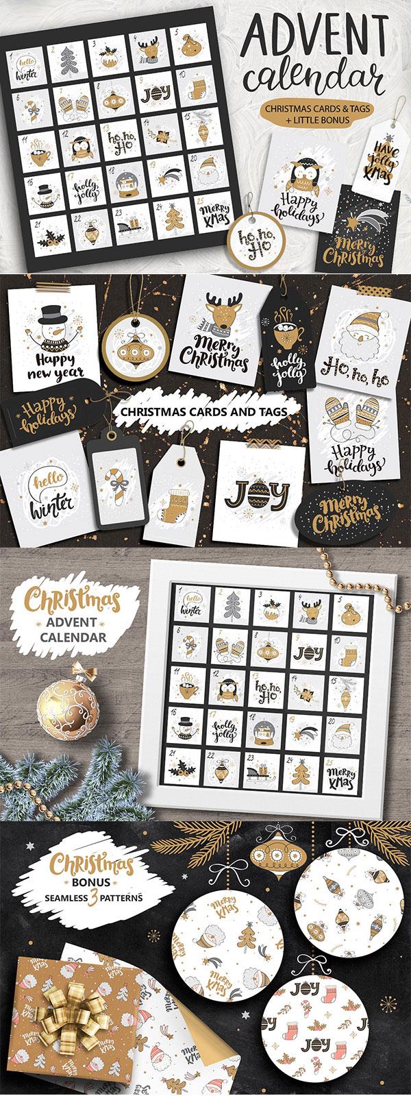 2018,日历台历,圣诞节,新年,可爱风格,手绘矢量,2018,12张预制卡,10个
