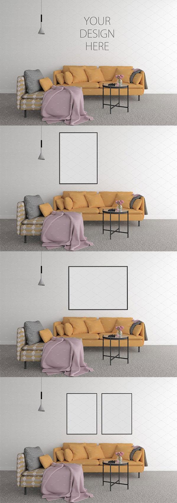 空白墙壁Mockups