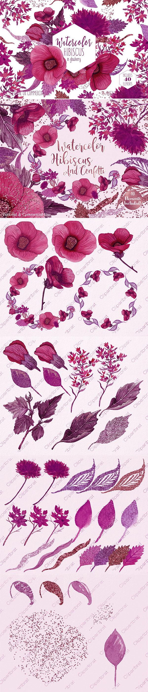 热带花卉图形图案