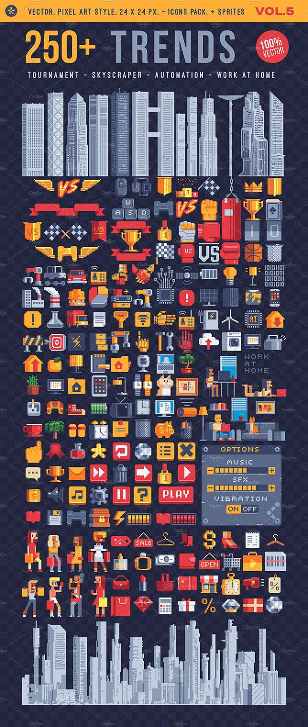 素材分类: 网页ui所需点数: 10 点 关键词: 250 有趣像素图标矢量