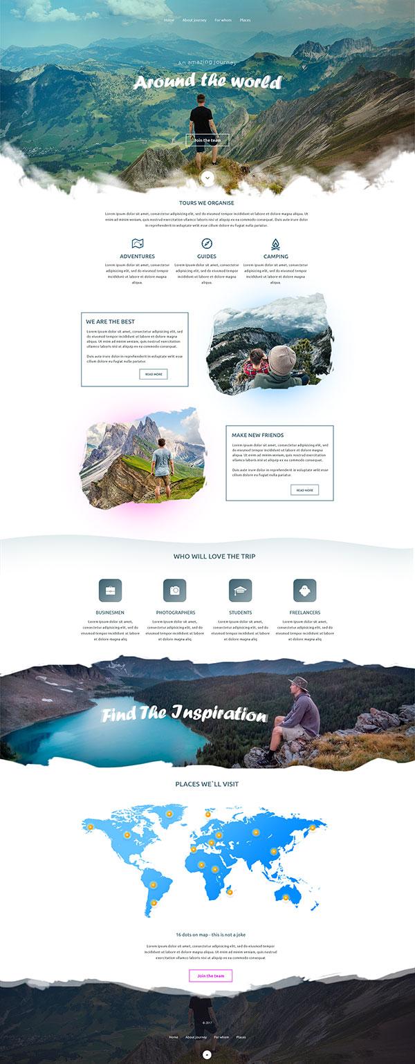 旅游主题网站