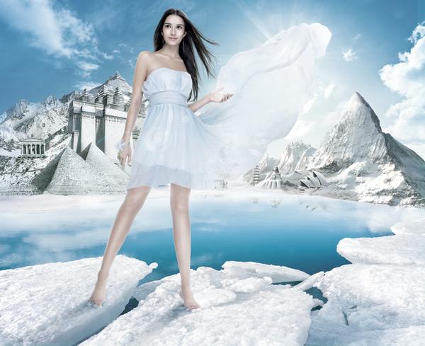 冰山美女广告 图片区