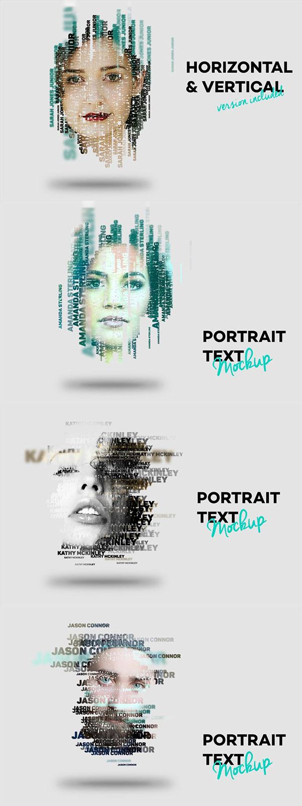 肖像文字PS样式