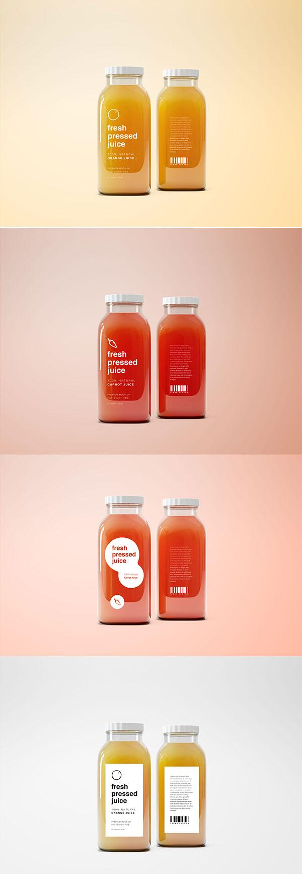 玻璃果汁瓶样机