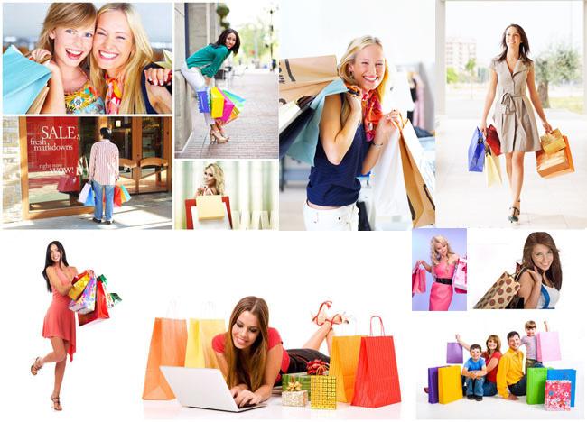 女性购物高清图片