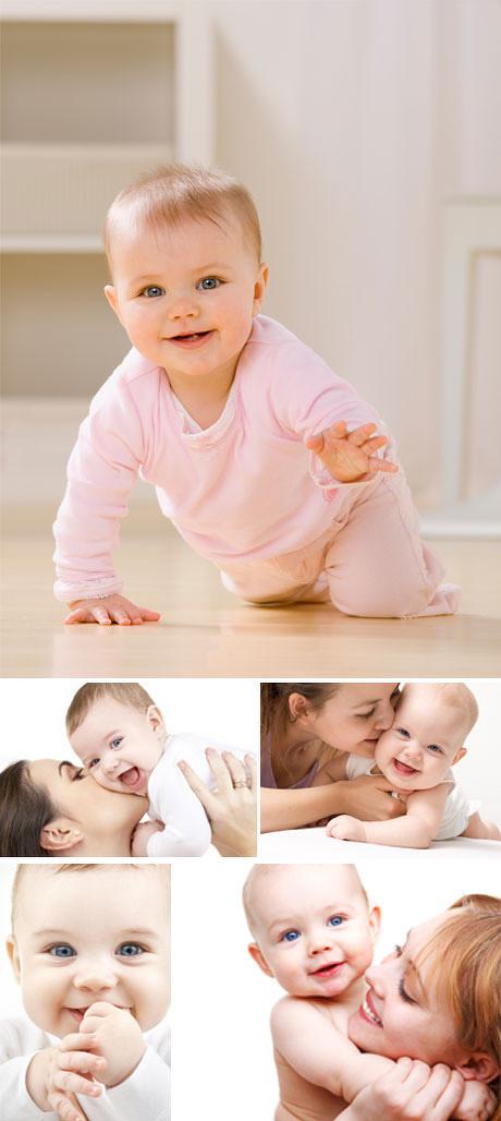 图片区所需点数: 4 点 关键词: 可爱小孩与母亲高清图片素材,小孩