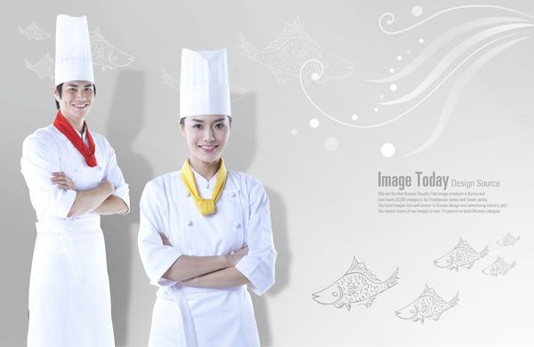 女厨师手绘服装