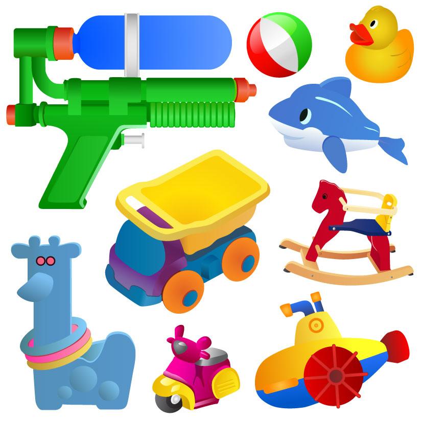 矢量儿童玩具_矢量生活用品