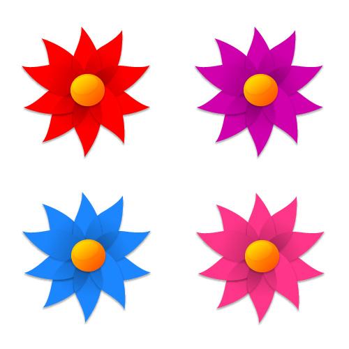 风车形状小花朵_矢量各式图标 - 素材中国_素材cnn