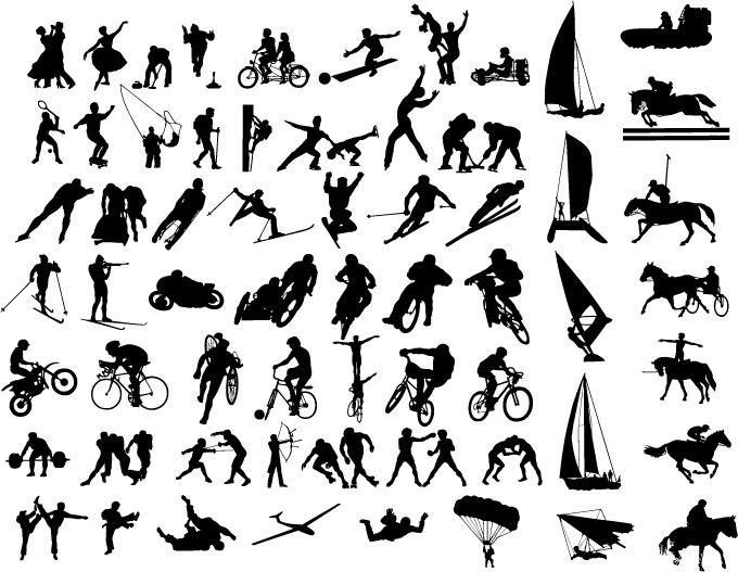 各种体育运动动作_矢量体育运动 - 素材中国_素