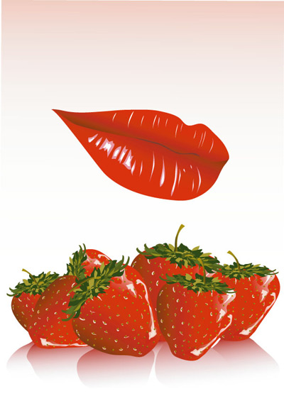 红唇与草莓
