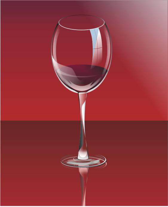 矢量红酒杯