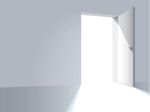 矢量打开的门