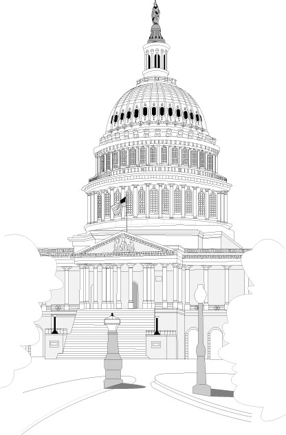 Line Art Of White House : White house line drawing