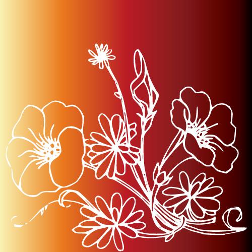 素材分类: 矢量花草树木所需点数: 0 点 关键词: 白描花朵矢量素材