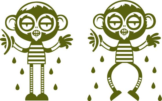 可爱的卡通猴子_素材中国sccnn.com